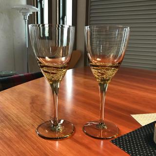 スガハラ(Sghr)のlkj様専用 ペアワイングラス スガハラ sghr 深海から沸き起こる泡(グラス/カップ)