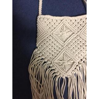 マクラメ編みフリンジショルダー(ショルダーバッグ)