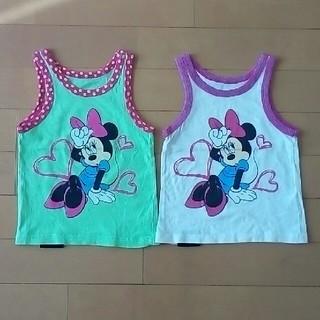 ディズニー(Disney)の子供服 女の子 80㎝ タンクトップ2枚セット(タンクトップ/キャミソール)