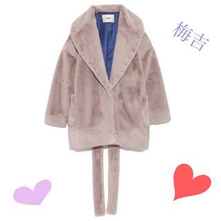 ファーファー(fur fur)の送料込・美品 ★ エコファースタッズコート ブルー ★ FURFUR(毛皮/ファーコート)