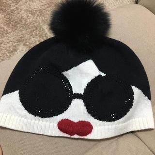 アリスアンドオリビア(Alice+Olivia)のアリスアンドオリビア帽子(ニット帽/ビーニー)