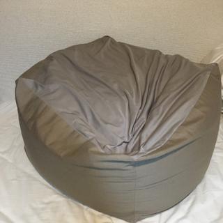 ムジルシリョウヒン(MUJI (無印良品))の無印良品 体にフィットするソファ 美品 直接引き渡し可 カバー付(ビーズソファ/クッションソファ)