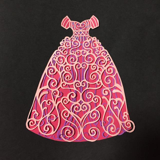 切り絵 ドレス