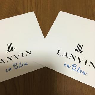 ランバンオンブルー(LANVIN en Bleu)のランバン オンブルー ハンカチ ギフト 袋 2枚組(ショップ袋)