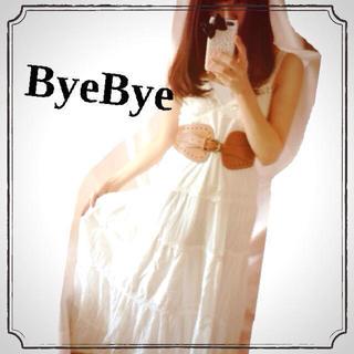 バイバイ(ByeBye)の値下げ*ホワイトレースマキシOP♡(ロングワンピース/マキシワンピース)