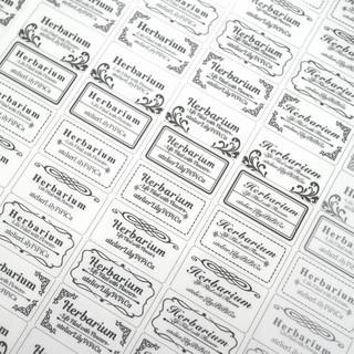 【カット不要】文字入れハーバリウムシール【半透明】65カット(しおり/ステッカー)