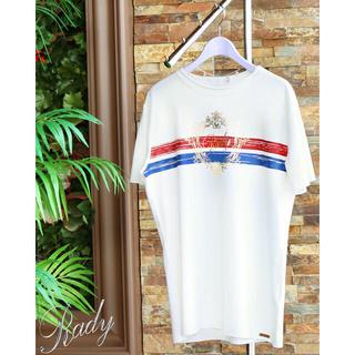レディー(Rady)の新品 Rady  かすれフレームRady  メンズTシャツ ホワイト(Tシャツ/カットソー(半袖/袖なし))