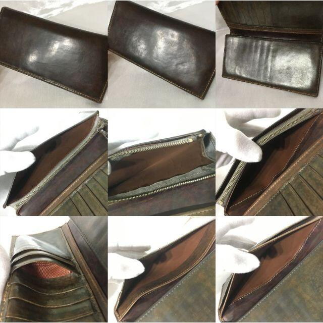 WHITEHOUSE COX(ホワイトハウスコックス)のバーニッシュサドル レザー ビンテージブラウン ホワイトハウスコックス 長財布 メンズのファッション小物(長財布)の商品写真