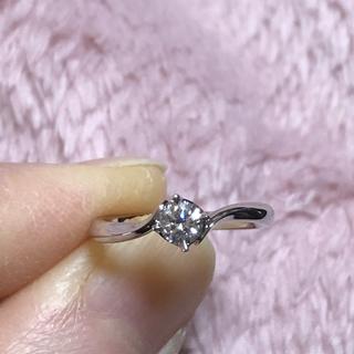 ヨンドシー(4℃)のチャーノ様 プラチナ 天然ダイヤモンドリング💍4℃(リング(指輪))
