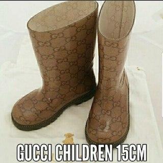 グッチ(Gucci)の【美品】即購入ok♡GUCCIチルドレン/レインブーツ♡15cm(その他)
