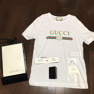 グッチ(Gucci)のGUCCI ロゴ ウォッシュド  ヴィンテージ  加工 Tシャツ(Tシャツ/カットソー(半袖/袖なし))