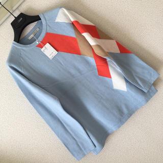 ルカ(LUCA)の◆新品◆ルカ レディラックルカ◆ニット セーター アシメ 変形アーガイル F(ニット/セーター)