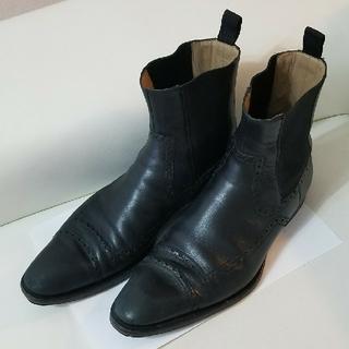 グッチ(Gucci)のGUCCI メンズサイドゴアショートブーツ size 40(ブーツ)