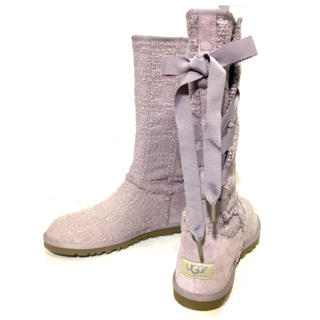 アグ(UGG)の新品♡サイズ7 24cm ロングブーツ レースアップ(ブーツ)