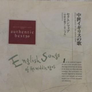 中世イギリスの歌 セクエンツィア 中世音楽アンサンブル(宗教音楽)