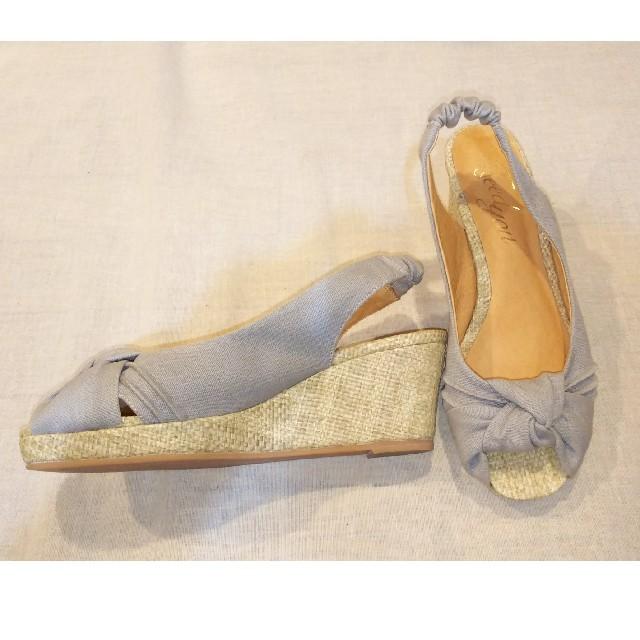 Feed you(フィージュ)のFeed you ウエッジサンダル ライトグレー M レディースの靴/シューズ(サンダル)の商品写真