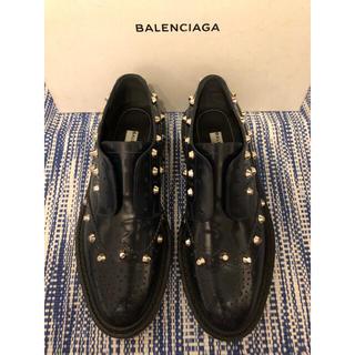 バレンシアガ(Balenciaga)の定価11万円 BALENCIAGA 新品 スタッズ付き レザーシューズ 36(ローファー/革靴)