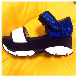 マルニ(Marni)の**MARNI glitter sandals blue summer*(サンダル)