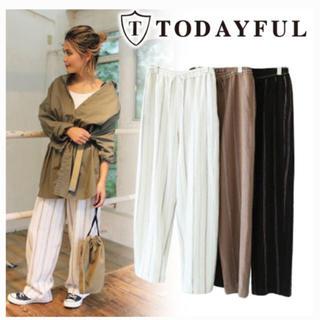 トゥデイフル(TODAYFUL)のTODAYFUL Tweed Stripe PT ツイードストライプパンツ(カジュアルパンツ)