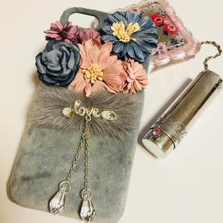 iPhone6 7 8 カバー ベロア dry flowers (iPhoneケース)