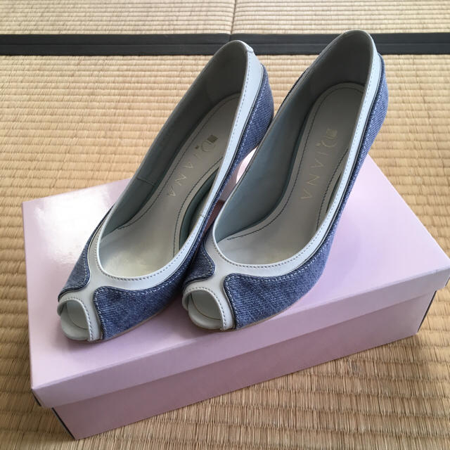 DIANA(ダイアナ)の【miii様専用】DIANA デニムパンプス レディースの靴/シューズ(ハイヒール/パンプス)の商品写真