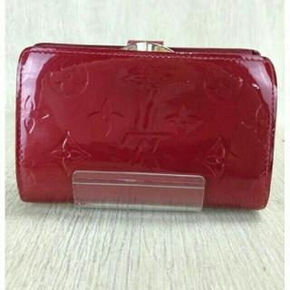 ルイヴィトン(LOUIS VUITTON)のルイヴィトン❤がま口❤ポルトフォイユ ヴィエノワ❤モノグラム ヴェルニ❤赤レッド(財布)