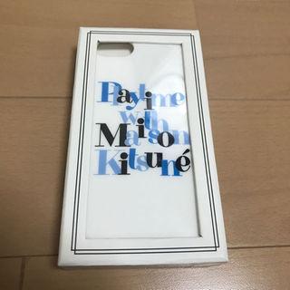 メゾンキツネ(MAISON KITSUNE')のメゾンキツネ iPhone7用ケース(その他)
