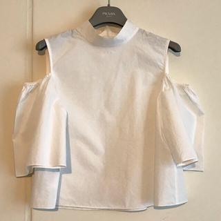 オープニングセレモニー(OPENING CEREMONY)のオープニングセレモニー 肩開きシャツ  OC オフショルダー(シャツ/ブラウス(半袖/袖なし))