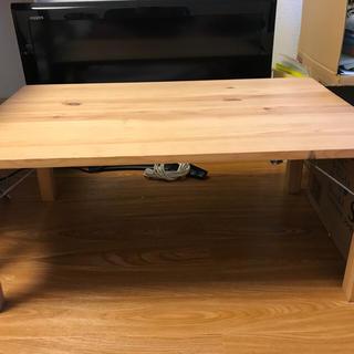 ムジルシリョウヒン(MUJI (無印良品))の【中古良品】無印良品 木製折りたたみテーブル(ローテーブル)