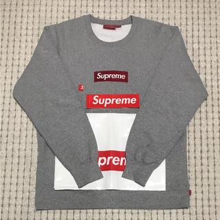 シュプリーム(Supreme)の15aw supreme box logo crew neck  grey XL(スウェット)