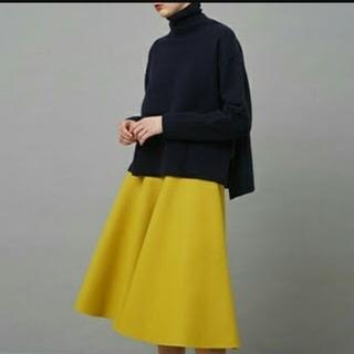 ルシェルブルー(LE CIEL BLEU)のルシェルブルー 新品 イエロー メルトンスカート (ひざ丈スカート)