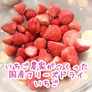 【いちご農家がつくった】国産フリーズドライいちご(固形・20g)(フルーツ)