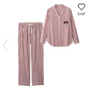 ジーユー(GU)のGU Disneyコラボ商品☆ストライプ柄パジャマ(パジャマ)