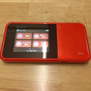 エーユー(au)のau Speed Wi-Fi NEXT W03 HWD34 オレンジ(PC周辺機器)
