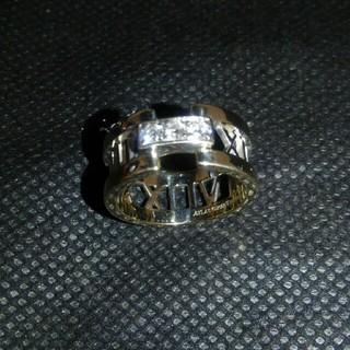 ティファニー(Tiffany & Co.)のティファニー アトラス オープン ダイヤ 18KWG 11.5号 新品仕上げ付(リング(指輪))