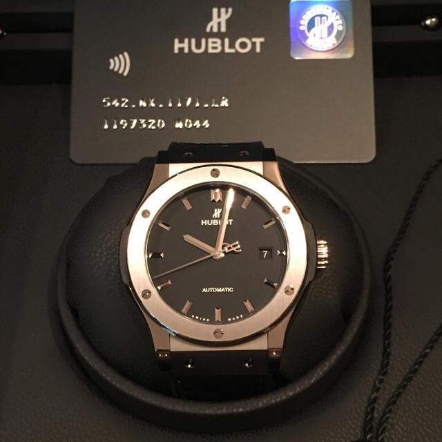 finest selection 8f507 12a42 腕時計 HUBLOT クラシックフュージョン 美品 | フリマアプリ ラクマ