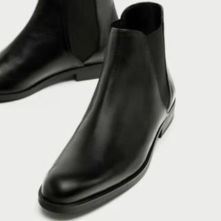 ザラ(ZARA)のお値下げ 新品 ZARA レザーブーツ 40(ブーツ)