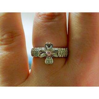 《FANCY PINK DIAMOND》パープリッシュ&パヴェダイヤ0.60ct(リング(指輪))