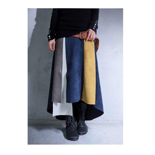 アンティカ(antiqua)のフェイク スウェード スカート(ロングスカート)