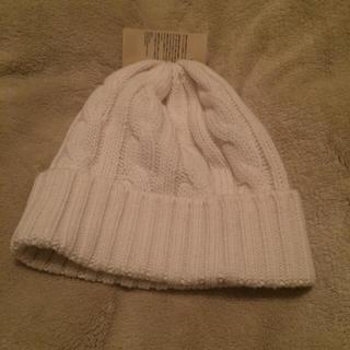 ムジルシリョウヒン(MUJI (無印良品))の無印 ニット帽 オフホワイト 男女兼用(ニット帽/ビーニー)
