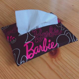 バービー(Barbie)のポケットティッシュカバー ティッシュケース  バービー柄 ハンドメイド(その他)