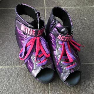 ジディー(ZIDDY)のZIDDY サンダル スパンコール風 紫 ピンク キッズ 子供(サンダル)
