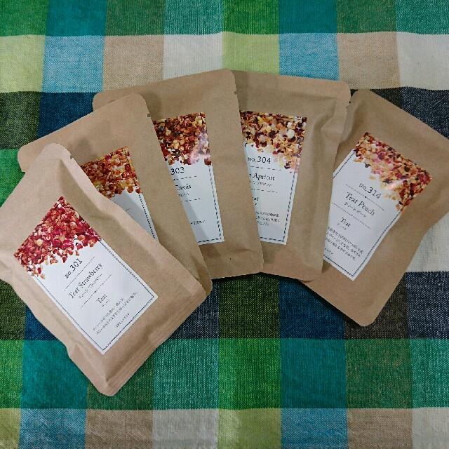 TEAtrico ティートリコ 10gサイズ色々5点セット 食べれる紅茶 食品/飲料/酒の飲料(茶)の商品写真