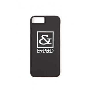 アンドバイピーアンドディー(&byP&D)の新品 新品 &byP&D スクエアロゴ iPhone6/7ケース ブラック(iPhoneケース)