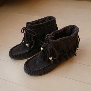 フリンジくつ(ブーツ)