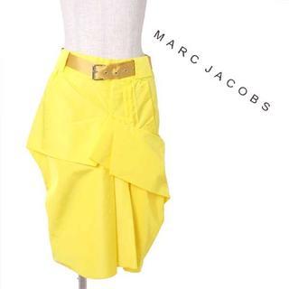 マークジェイコブス(MARC JACOBS)の新品 MARC JACOBS ベルテッドスカート 定価89,250円 (ひざ丈スカート)
