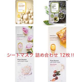 ミシャ(MISSHA)の☆韓国で人気ショップのシートマスク詰め合わせ12枚☆(パック/フェイスマスク)