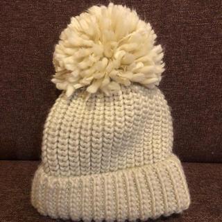メゾンドリーファー(Maison de Reefur)のエミム様専用 ニット帽 オフホワイト 美品(ニット帽/ビーニー)