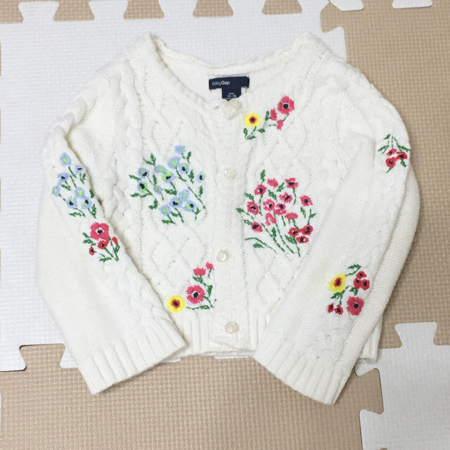 405d01e2c5373 babyGAP - 美品!ベビーGAP・刺繍カーディガンの通販 by めめ s shop ...