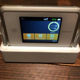 エヌイーシー(NEC)のUQ WiMAX2+ Speed Wi-Fi NEXT WX03NECクレードル(PC周辺機器)